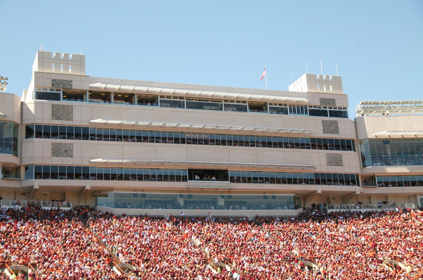 Photo of Virginia Tech's Lane Stadium.