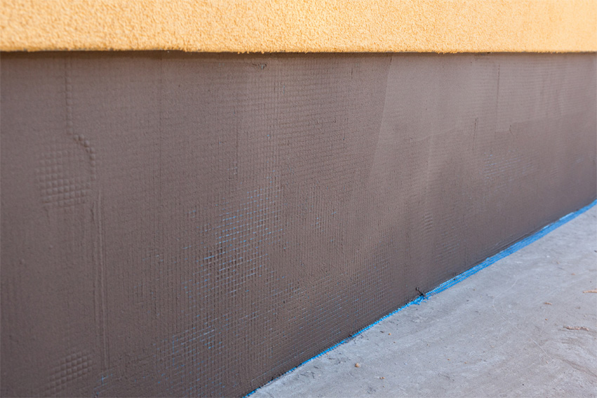 Insulation during construction.
