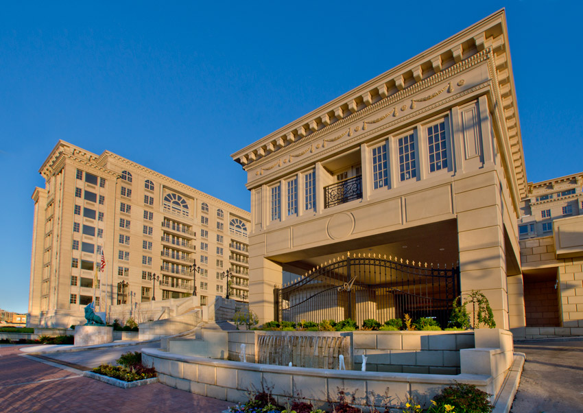 Edgewater, New Jersey, luxury apartments, The Alexander on the Hudson, used lightweight precase concrete panel systems