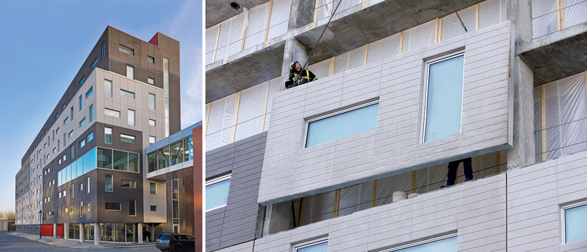 LEED GOLD Application: The ETS (ÉTS) School of Technology Student Residence in Montreal, Canada