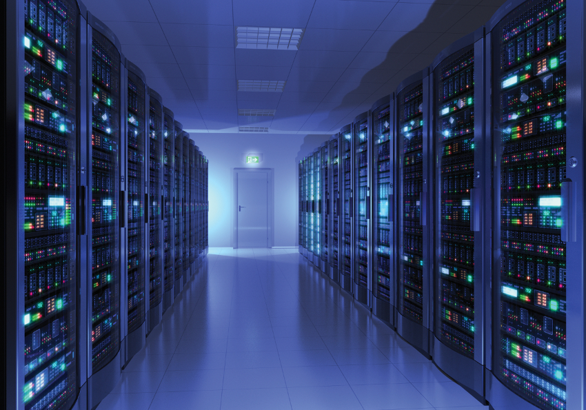 blue data center