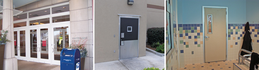 door materials and finishes