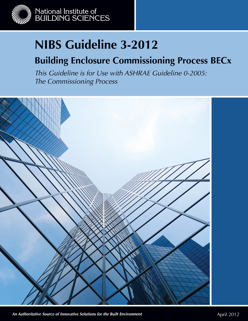 Picture of the Cover of the NIBS Guideline 3 for BECx