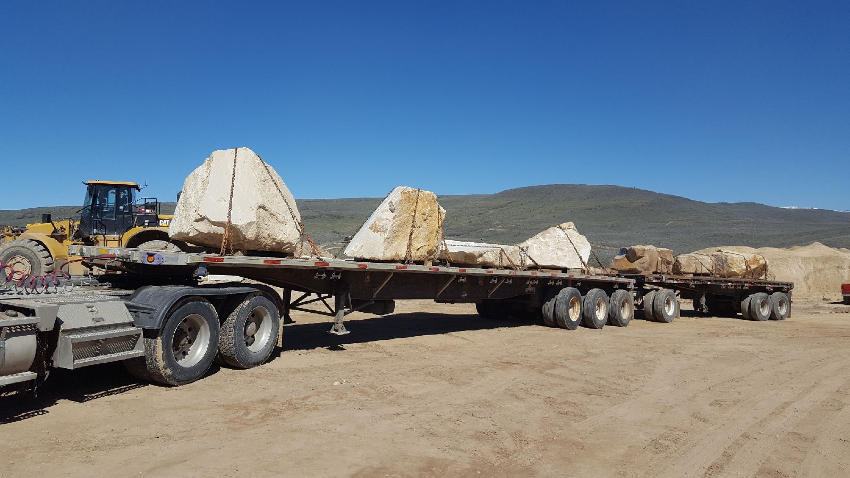 Truck with stone transportation