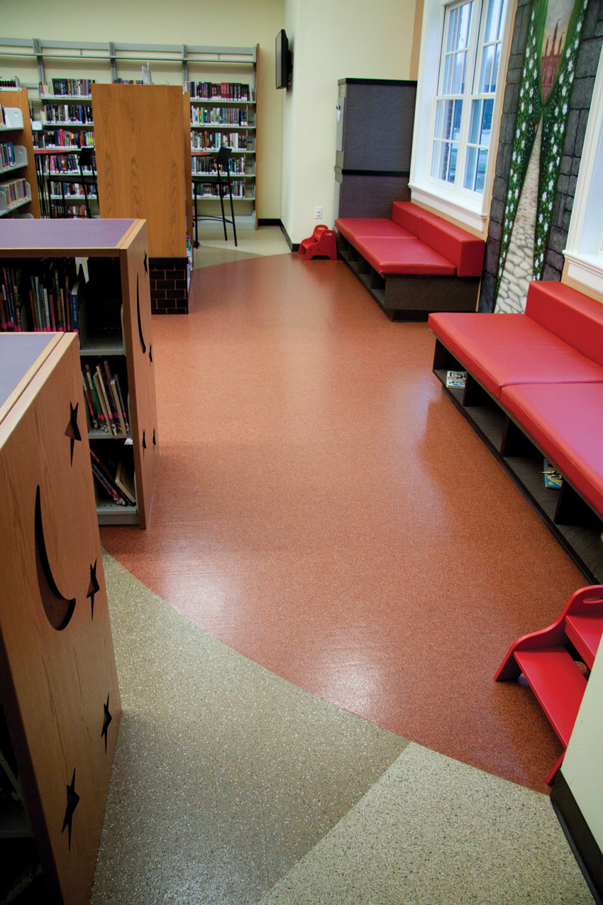 Image of Pendleton County Library in Falmouth, Kentucky with performance rubber surfacing.