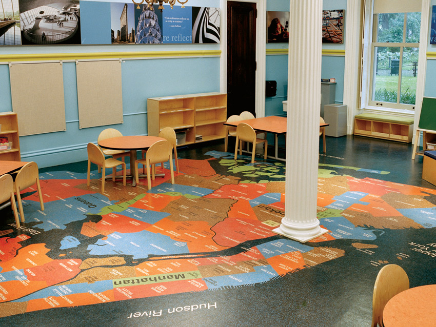 Image of The Architecture and Urban Planning classroom of City Hall Academy at the Tweed Courthouse in New York City