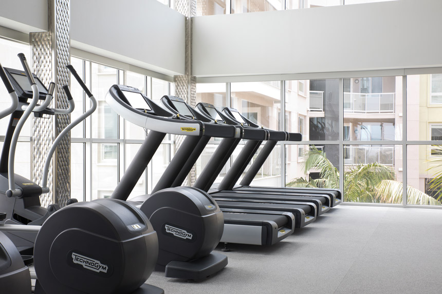 Image of fitness center at Vive on the Park is a multistory apartment complex in San Diego