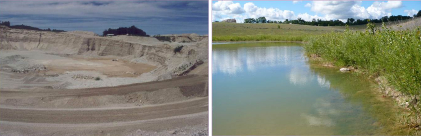 Land reclamation of closed quarry facilities can result in community amenities.