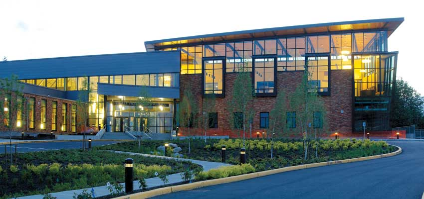 The Valley View Middle School in Snohomish, Washington, designed by Dykeman Architects