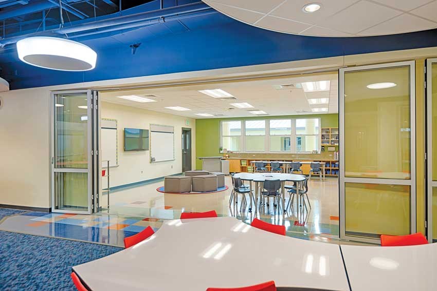 Photo of Operable glass walls in schools