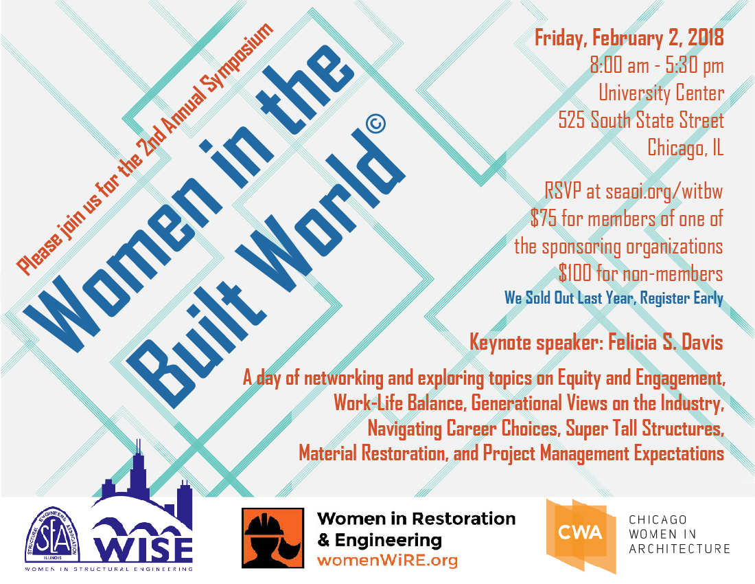 SECOND ANNUAL WOMEN IN THE BUILT WORLD SYMPOSIUM Flyer