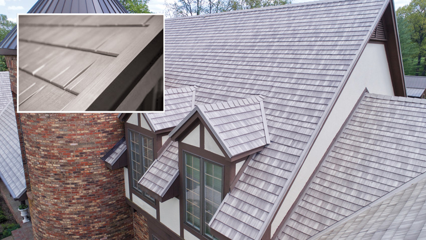 Clay tile, wood shake, slate shingle roofing