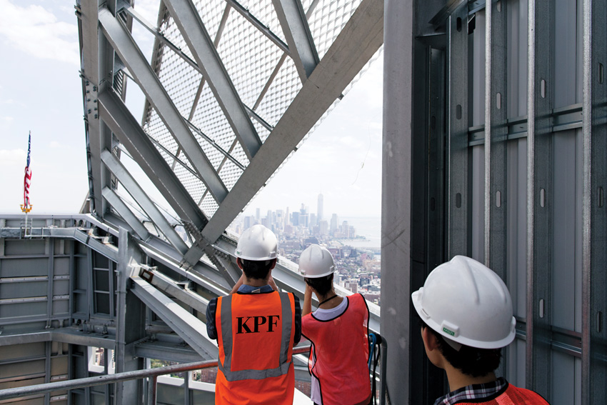 The KPF team on-site at the firm's 10 Hudson Yards tower in New York
