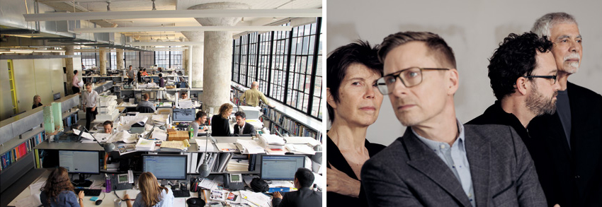 Left: Diller Scofidio + Renfro's New York office. Right: and its partners
