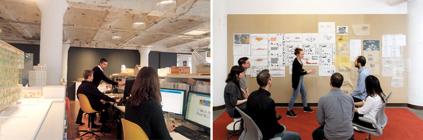 Left: nArchitects in New York, Right: Digsau in Philadelphia