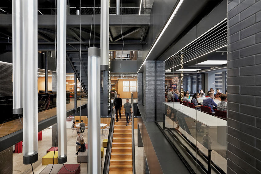 Gensler's New York offices, with internal stairs for multiple levels