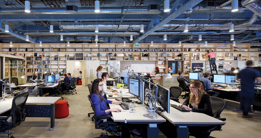 Perkins + Will's Minneapolis office in the IDS Center