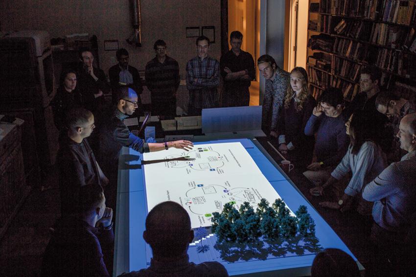 KieranTimberlake staff using projection mapping