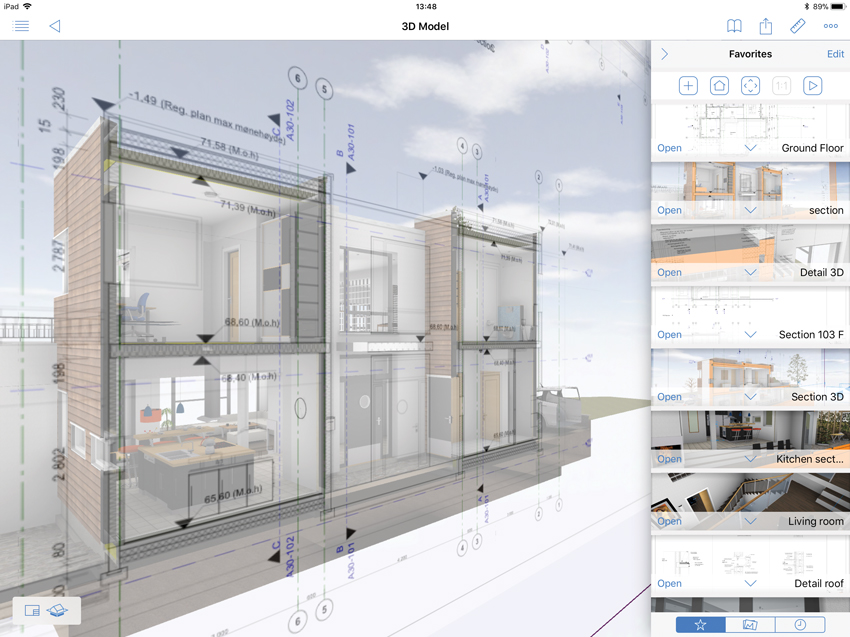 architects can design in 2-D or 3-D with BIM