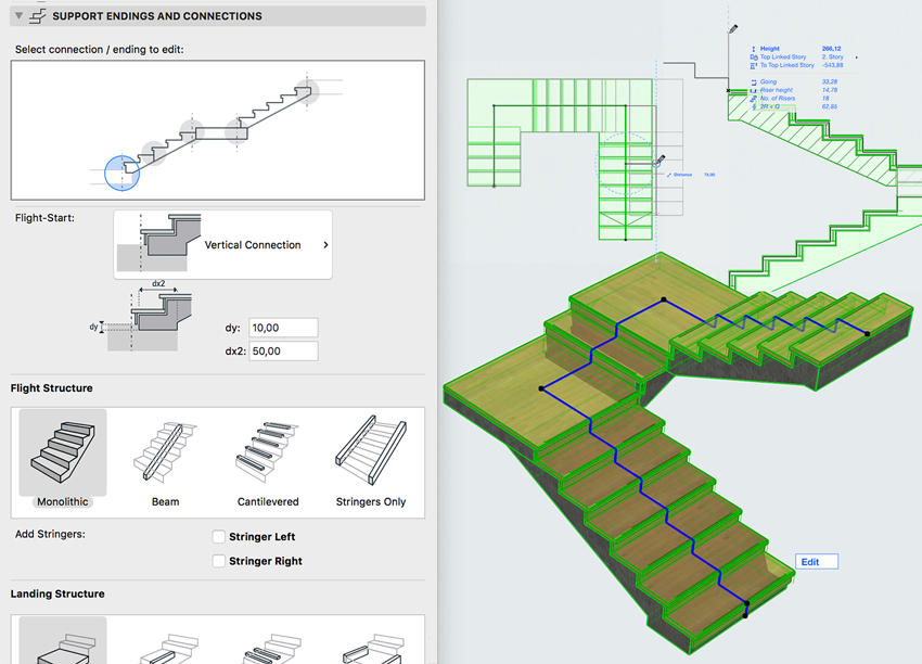BIM staricase tool used by architects using artificial intelligence