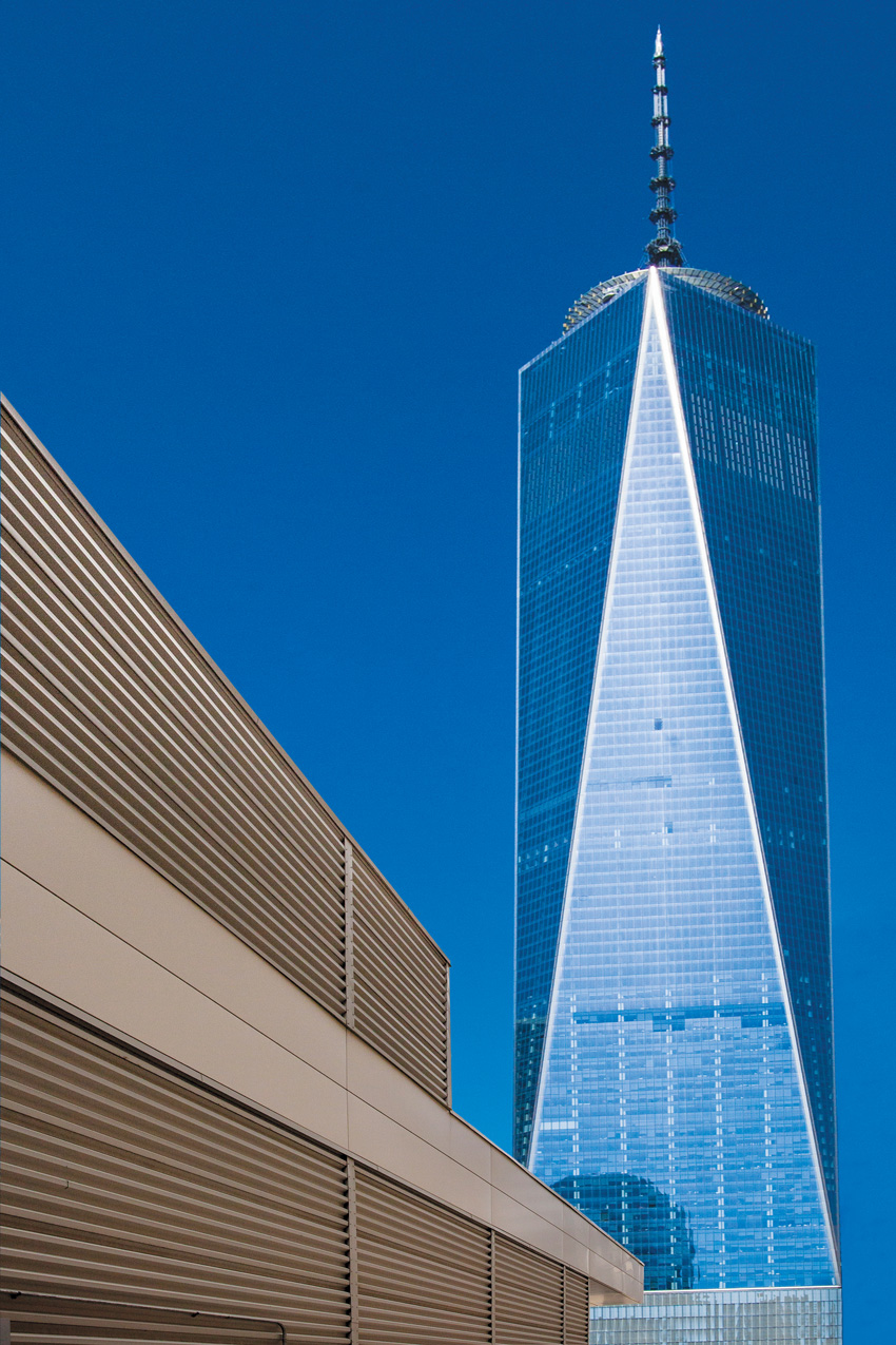 Freedom Tower in New York City, exterior cladding