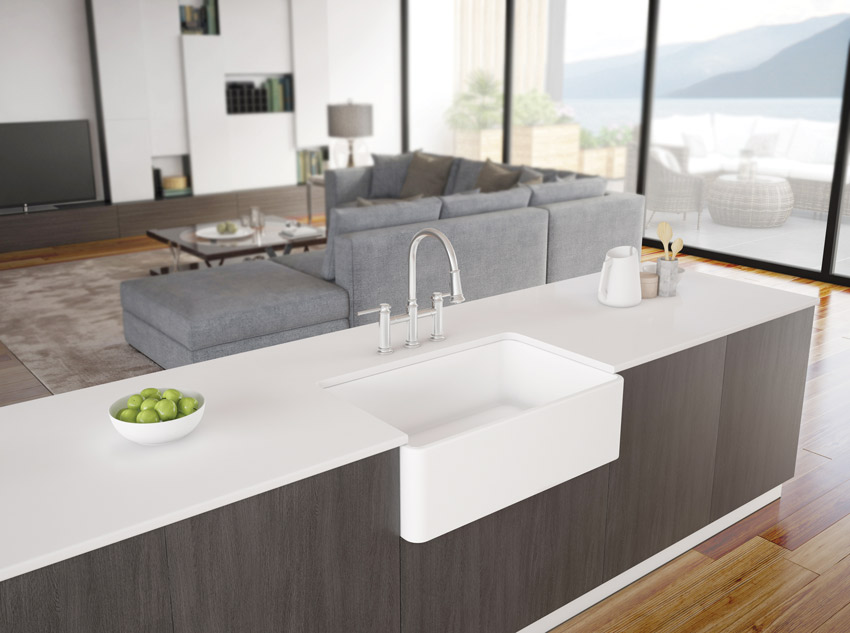 A sink's characteristics adds to its functionality