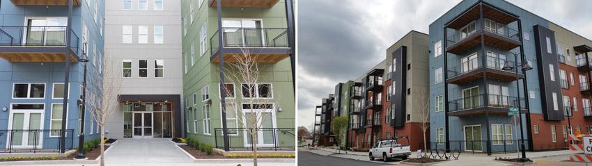 extruded aluminum trim used in multifamily apartments in Huntsville, Alabama