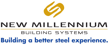 New Millenium Building Systems logo.