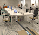 Optimized Connectivity for Changing Office Spaces